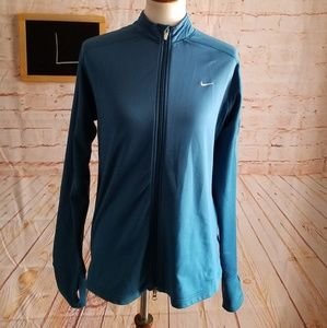 Nike Fit Dry Blue Jacket With Thumb Holes